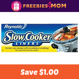 Save $1.00 off Reynolds Slow Cooker Liners