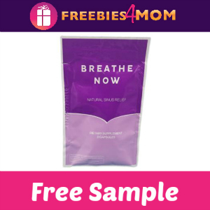 Free Sample Breathe Now Natural Sinus Relief