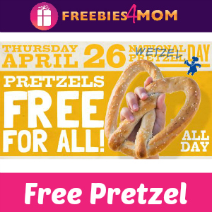 Free Pretzel at Wetzel Pretzel April 26