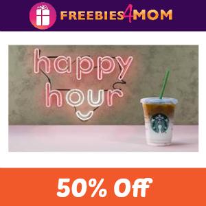 Starbucks 50% Off Latte or Macchiato