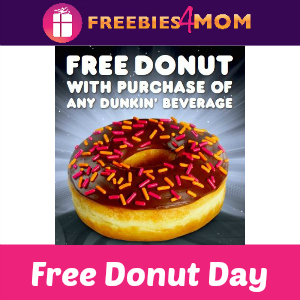 Free Donut at Dunkin' Donuts June 1