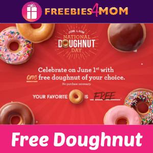 Free Krispy Kreme Doughnut June 1