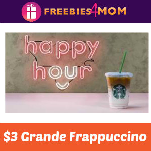 Starbucks $3 Grande Frappuccino May 17