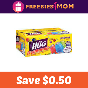 Save $0.50 off Little Hug Fruit Barrels