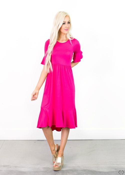 35% off Ruffle Hem Dresses