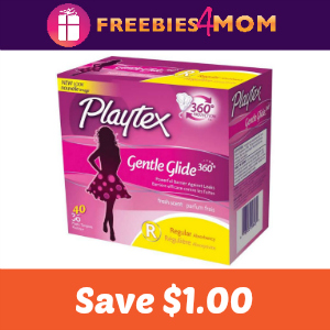 Save $1.00 on any Playtex Gentle Glide Tampons