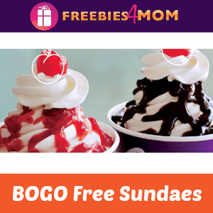 BOGO Free Sundaes at Carvel on Wednesdays