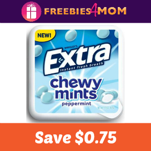 Coupon: Save $0.75 off Extra Chewy Mints