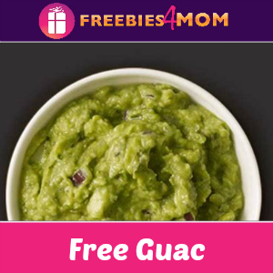 Free Guac w/Entrée Purchase at Chipotle 7/31