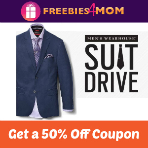 50% Off with Men's Warehouse Donation