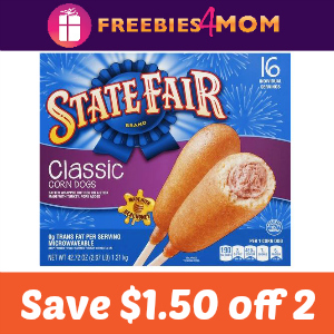 $1.50 off any 2 State Fair Corn Dog Products
