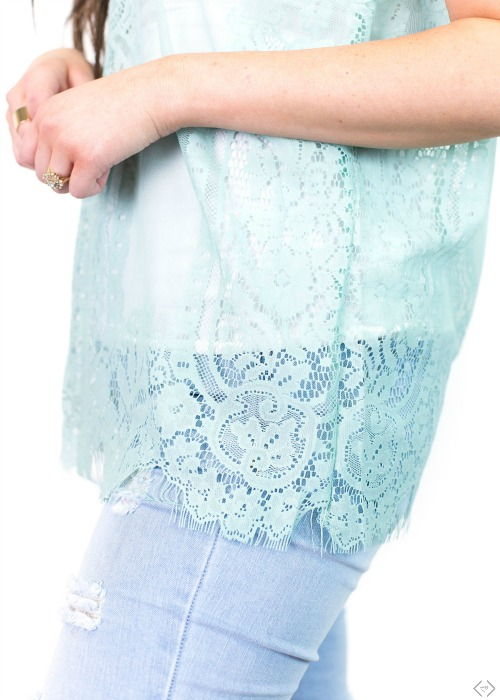 $11.99 Lace Shell Top