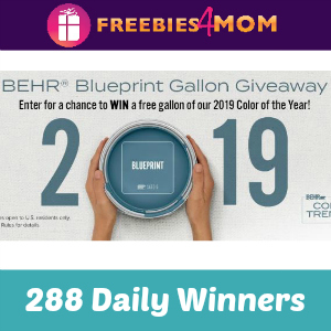 Sweeps Behr Blueprint Gallon Giveaway