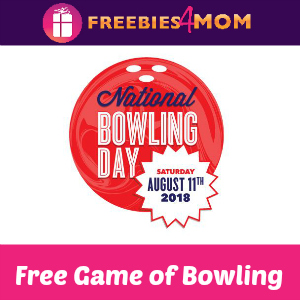 Free Game of Bowling Aug. 11