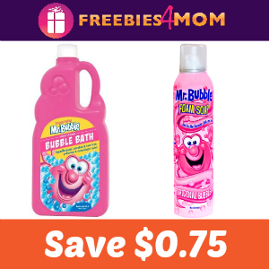 Coupon: Save $0.75 off full-size Mr. Bubble