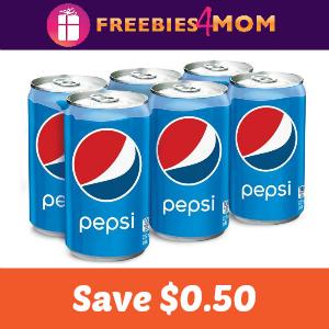 Coupon: Save $0.50 on Pepsi Brand Mini Cans