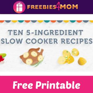 Free 5-Ingredient Slow Cooker Recipe Cards