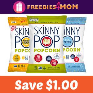 Coupon: Save $1.00 on SkinnyPop Popcorn