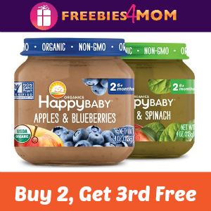 Coupon: Buy 2, Get 1 Free Happy Baby Jars