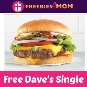 Free Dave's Single (w/purchase) at Wendy's