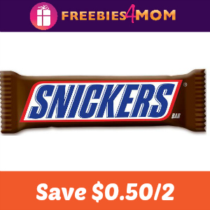 Coupon: Save $0.50 on any two Snickers