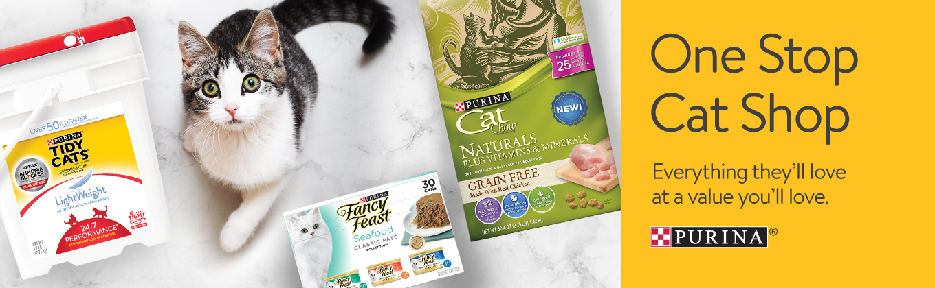 Purina Shopkick Discounts at Walmart One Stop Cat Shop