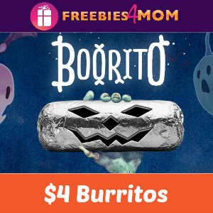 $4 Burritos at Chipotle on Halloween