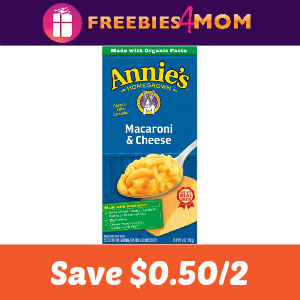Coupon: Save $0.50 on 2 Annie's Mac & Cheese