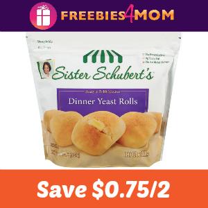 Coupon: Save $0.75 off 2 Sister Schubert's