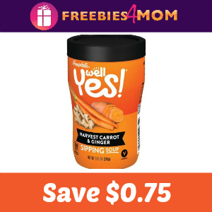 Save $0.75 on one Well Yes! Sipping Soup