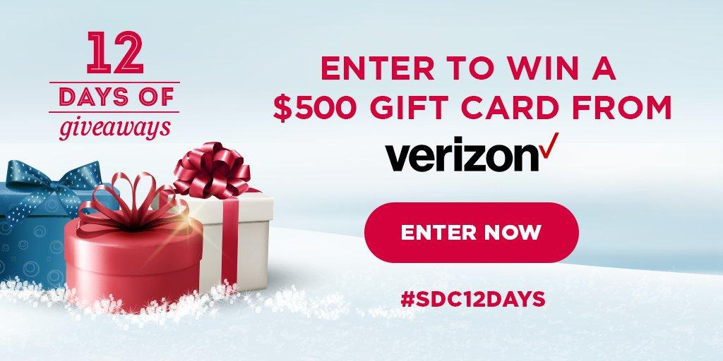 Verizon $500 Gift Card Giveaway for November 5