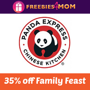 Save 35% off Family Feast at Panda Express