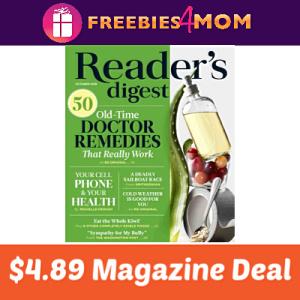 Magazine Deal: Reader's Digest $4.89