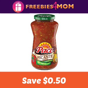 Coupon: Save $0.50 on any Pace product