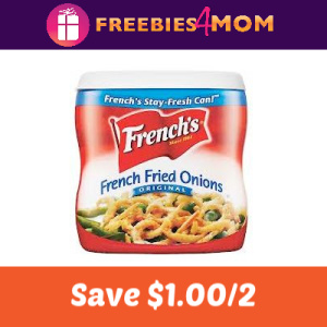 Coupon: Save $1.00 Off 2 French's Fried Onions