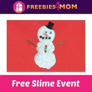 Free Snowman Slime Event at Michaels Jan. 12