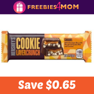 Save $0.65 on Hershey's Cookie Layer Crunch