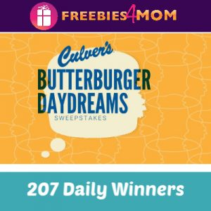 Sweeps Culver's Butterburger Daydreams