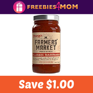 Save $1.00 on Prego Farmers' Market Sauce