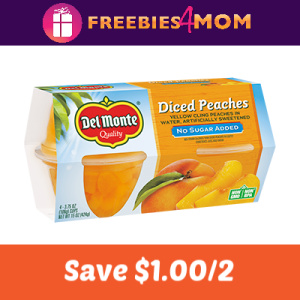 Save $1.00 on 2 Del Monte Fruit Cup Snacks