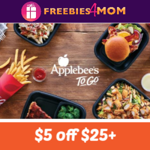 Applebee's $5 off $25 To Go