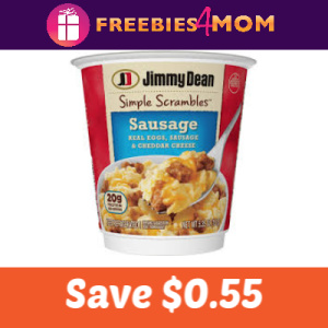 Save $0.55 on Jimmy Dean Simple Scrambles