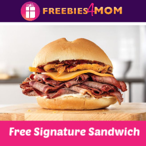 Free Signature Sandwich at Arby's (w/drink)