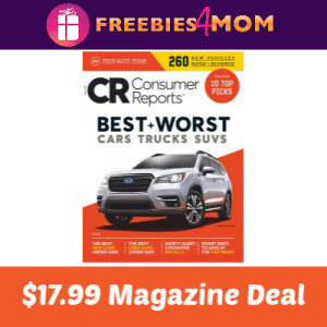 Magazine Deal: Consumer Reports $17.99