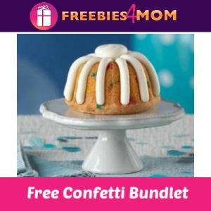 Free Confetti Bundtlet at Nothing Bundt Cakes