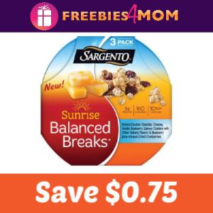 Save $0.75 on Sargento Sunrise Balanced Breaks