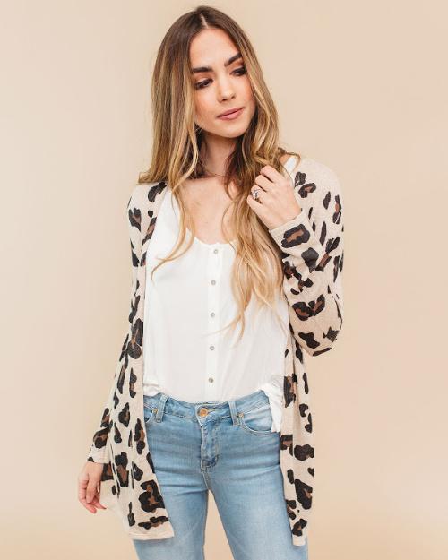 $24.98 Leopard Cardigan (thru 4/25)