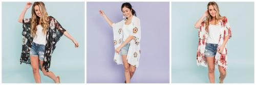 Buy a Kimono, Get 50% off a Layering Piece