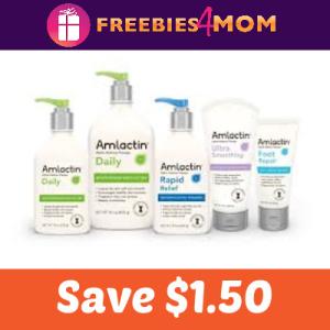 Save $1.50 on AmLactin Skin Care