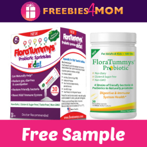 Free Sample FloraTummys Probiotics